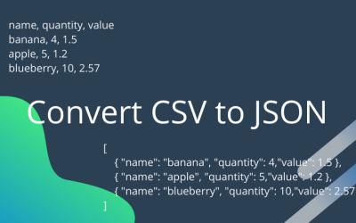 CSV to JSON Converter