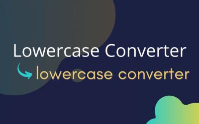 Lowercase Converter